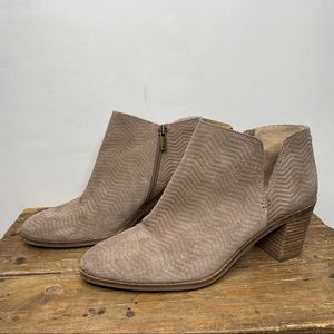 Lucky Brand | Tan Suede Pickla Ankle Booties